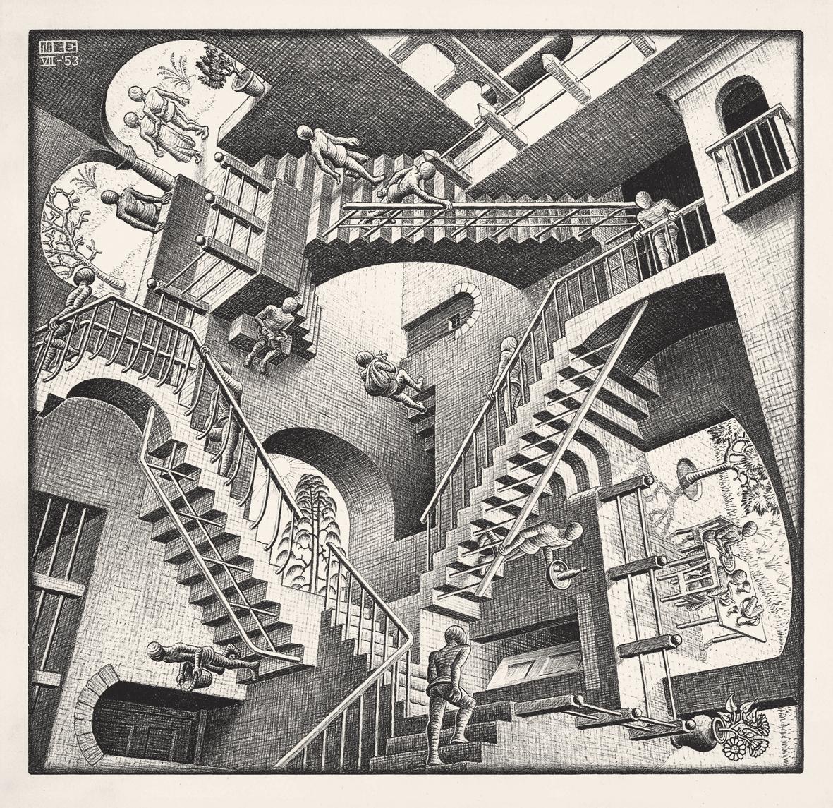25: Relativity by M. C. Escher - Scott M. McDaniel