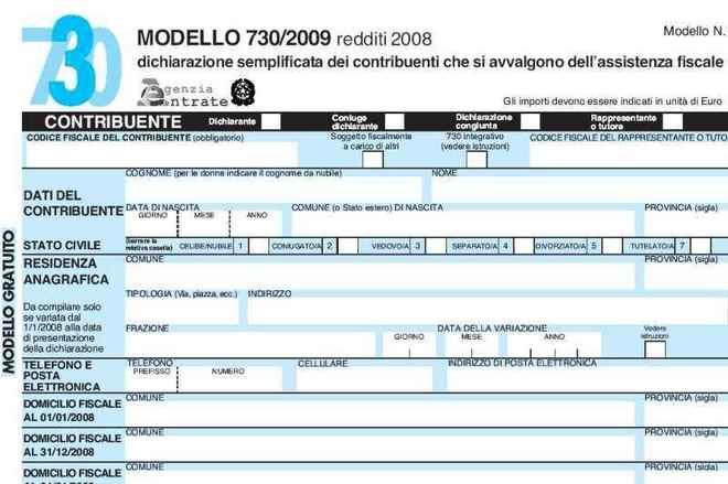 Modello 730 precompilato le indicazioni ministeriali for 730 modello
