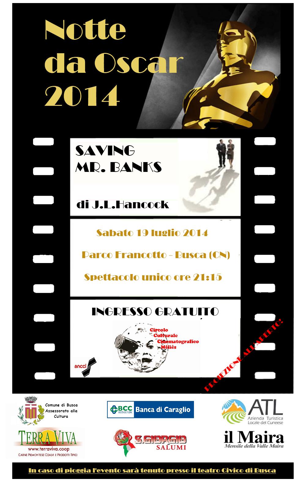 Cinema Sotto Le Stelle Notte Da Oscar A Busca
