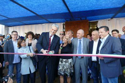Il sindaco di Cuneo Federico Borgna inaugura l'Oktoberfest Cuneo