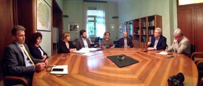 I partecipanti all'incontro tra Ance e Provincia di Cuneo