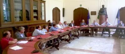 Un momento dell'incontro la le stazioni sciistiche di Confindustria Cuneo e la Regione Piemonte svoltosi in Provincia a Cuneo