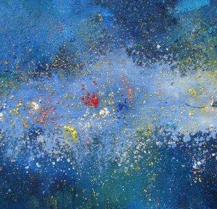 """Giovanni Mattio, """"Galassia"""", 2011 - Polimaterico su tela (cm 100X100)"""